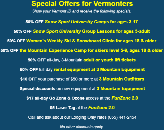 smuggs school vacation week vermonter deals